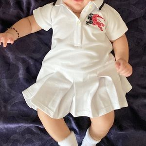 Burberry Baby Pleated Polo Dress